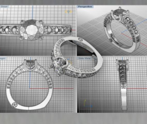 Computer aided design creation of jewelry - Diamonds Inc (CAD Design)