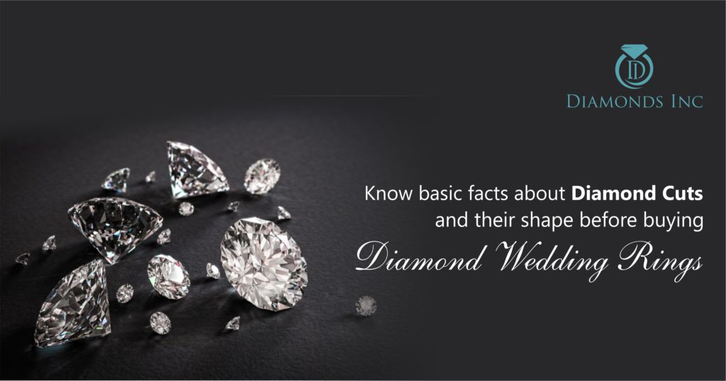 Know basic facts about Diamond Cuts and their shape before buying diamond wedding rings