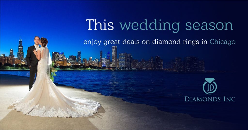 This wedding season enjoy great deals on diamond rings in Chicago
