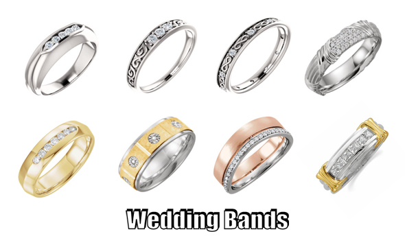 Diamond Wedding Bands in chicago