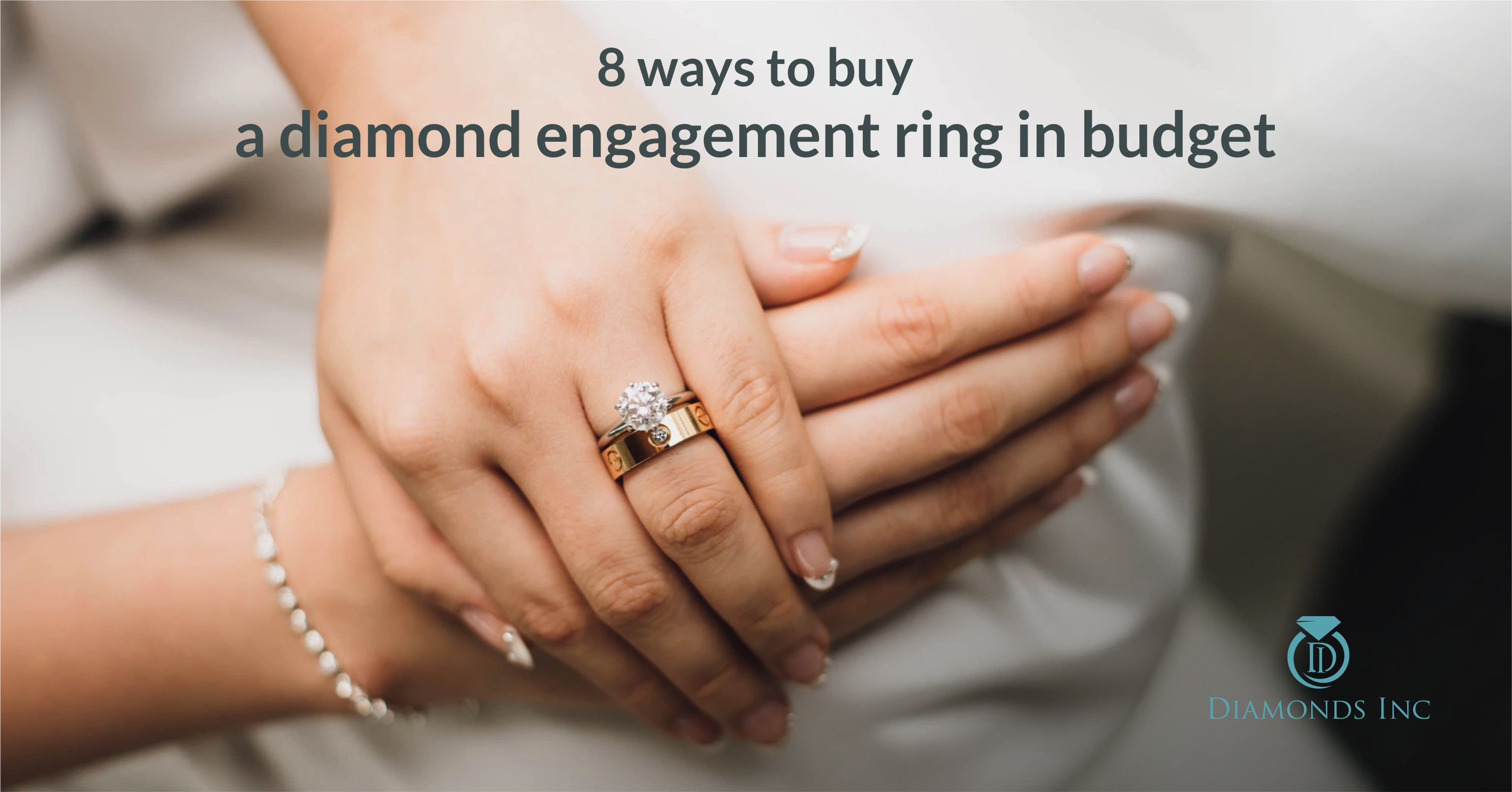 How can you lower your budget on diamond engagement ring Diamonds Inc