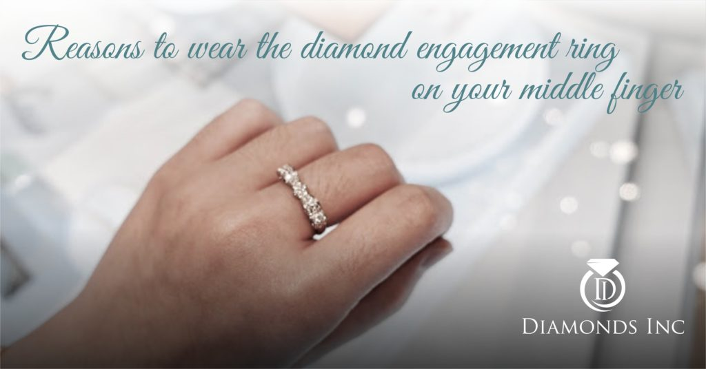 Reasons to wear diamond engagement ring on your middle finger | Diamonds Inc | Diamonds717
