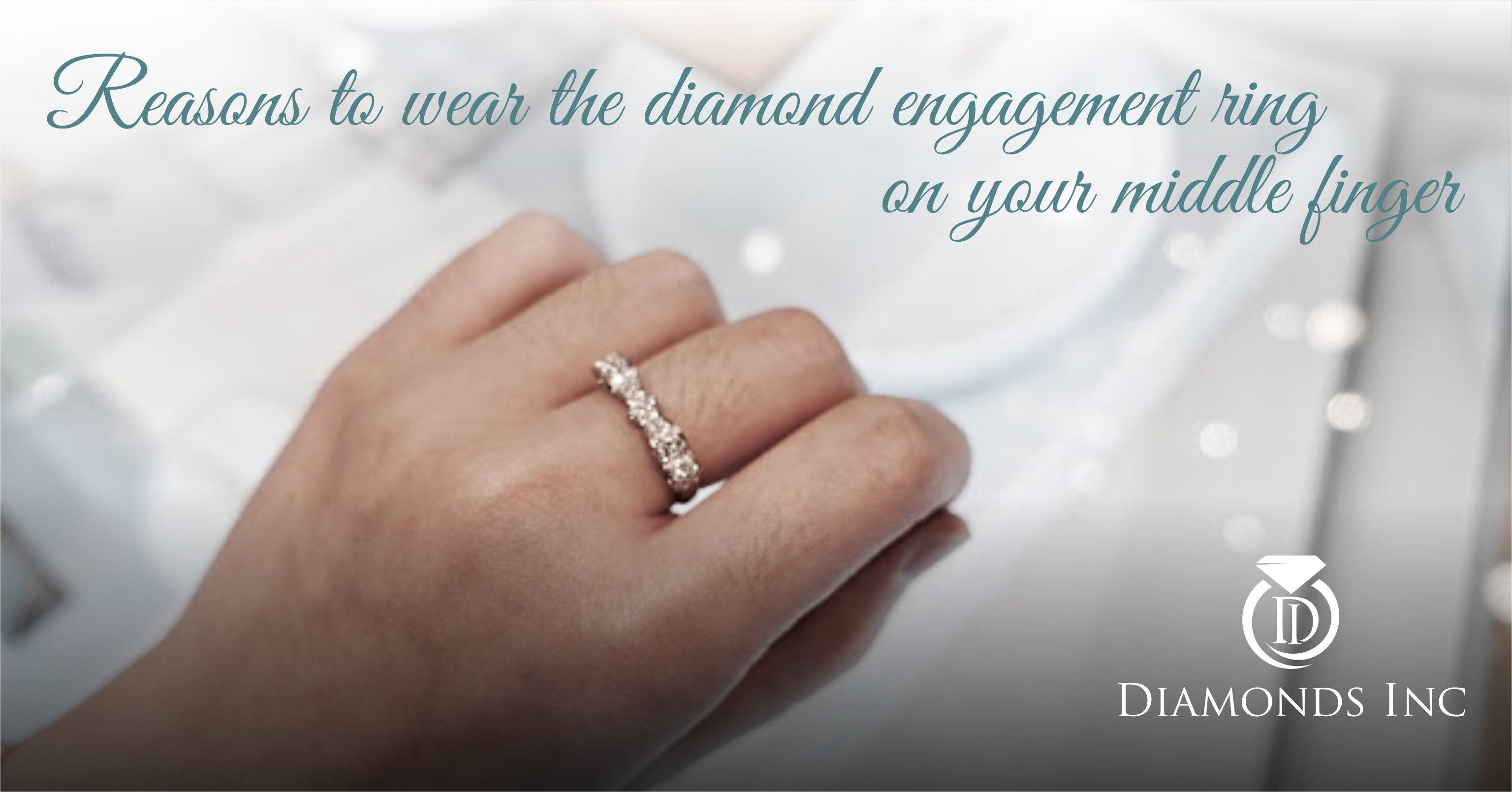 Why you should wear the diamond engagement ring on your middle