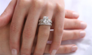 how to wear your engagement ring and wedding ring