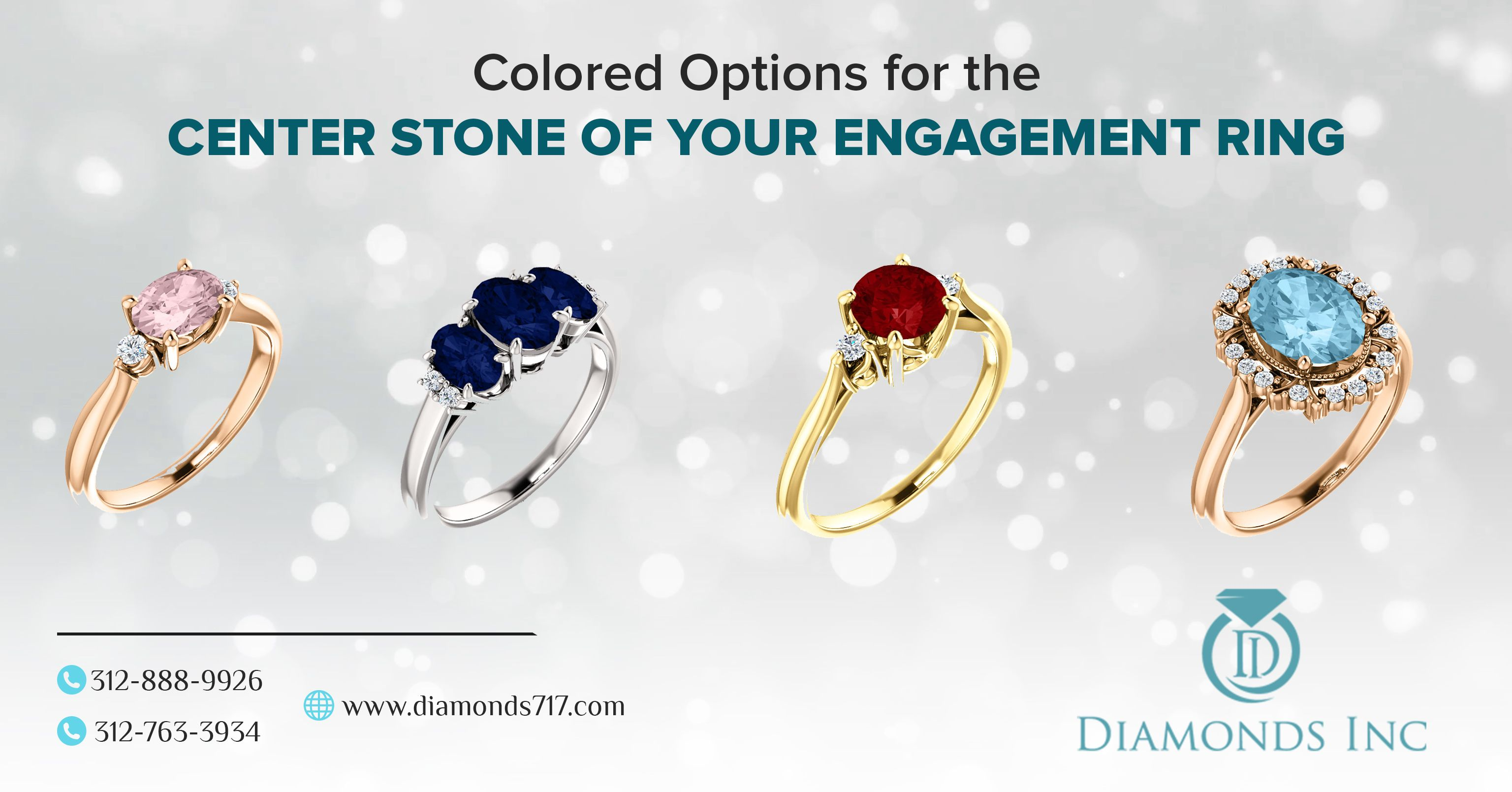 Colored Options For The Center Stone of Your Engagement Ring