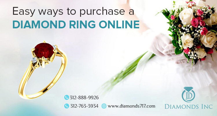 Easy Ways to  Purchase a Diamond Ring Online