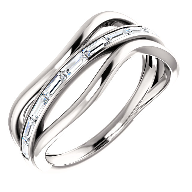 Accented Baguette Ring