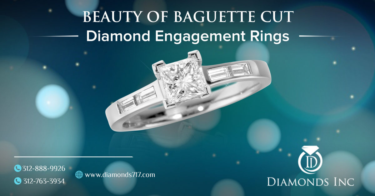 Beauty of Baguette Cut Diamond Engagement Rings