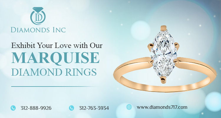 Exhibit Your Love with Our Marquise Diamond Rings