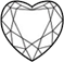 heart shape diamond stone setting