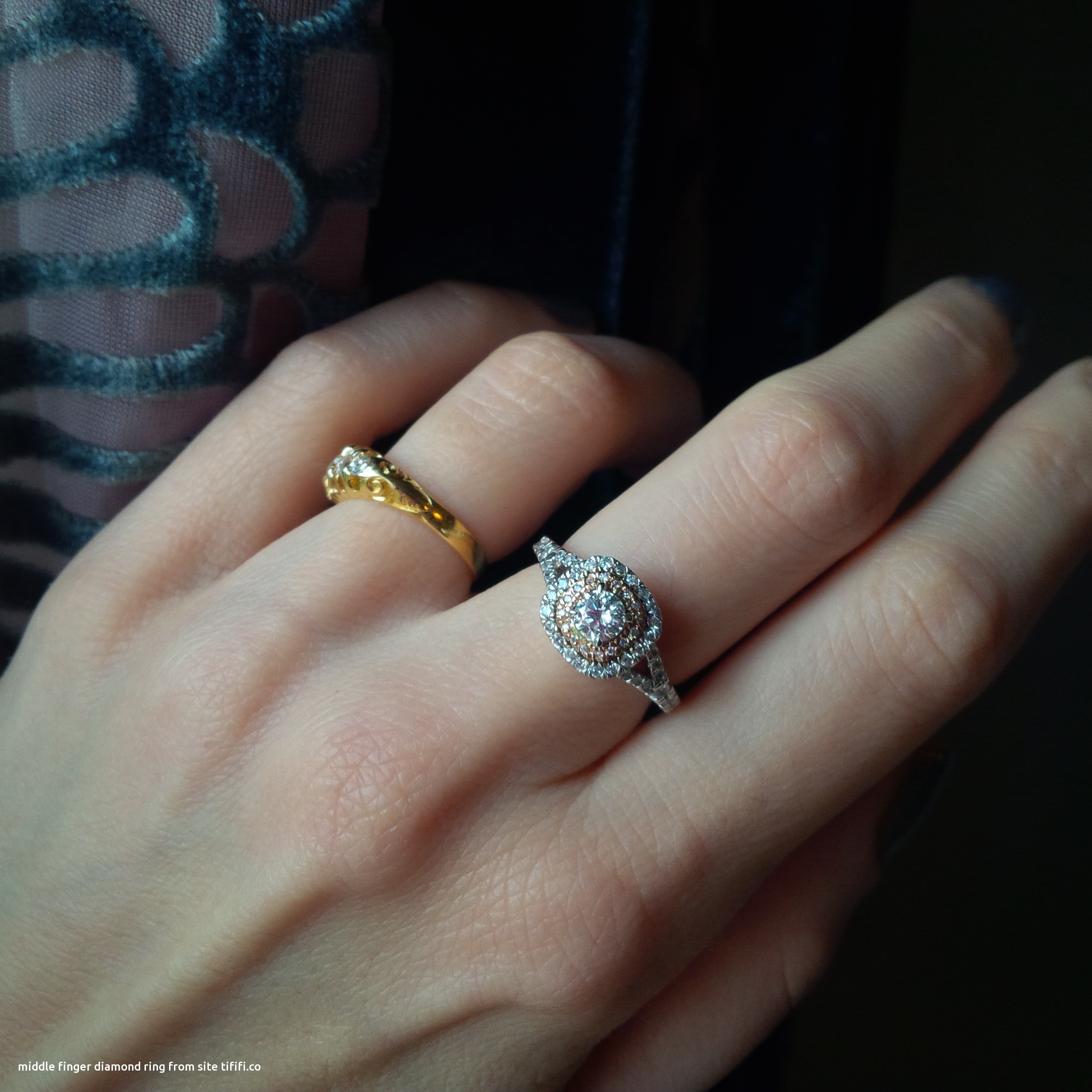 Which Hand Does A Wedding Ring Go On: Middle Finger Diamond Ring Lovely 5 Or Under E Rings Pics