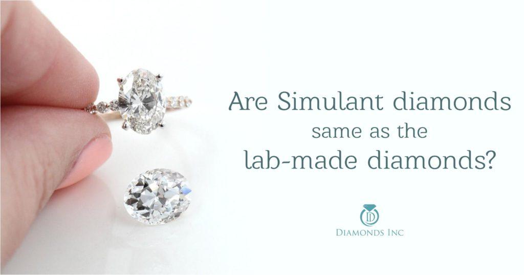 Are Simulant diamonds same as the lab-made diamonds
